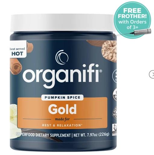 Organifi Pumpkin Spice Gold Herbal Blend - 100% Safe & Effective Superfoods