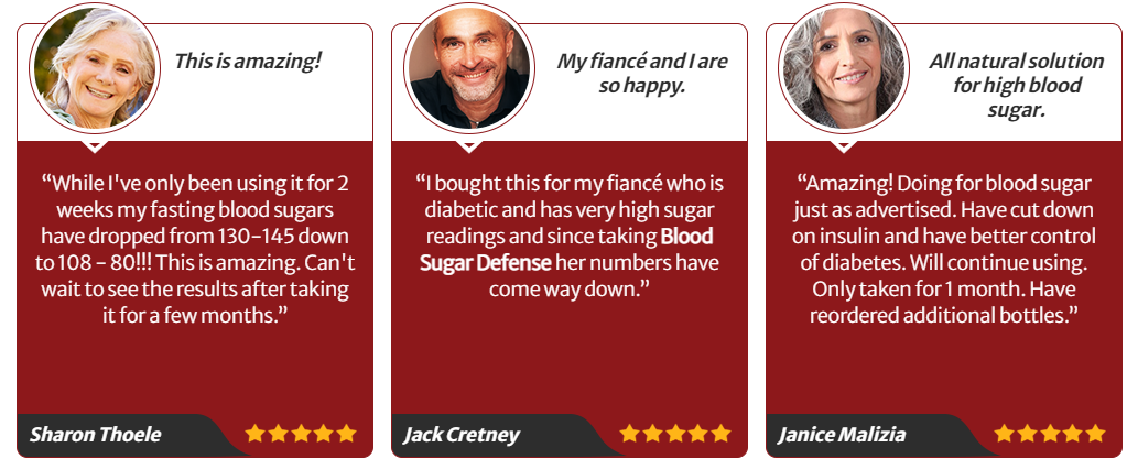 Blood Sugar Defense Testimonials