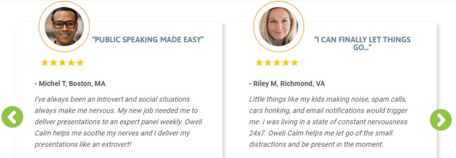 Oweli Calm Customer Reviews